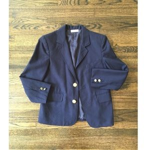 Vintage Reworked One of a Kind Navy Blazer